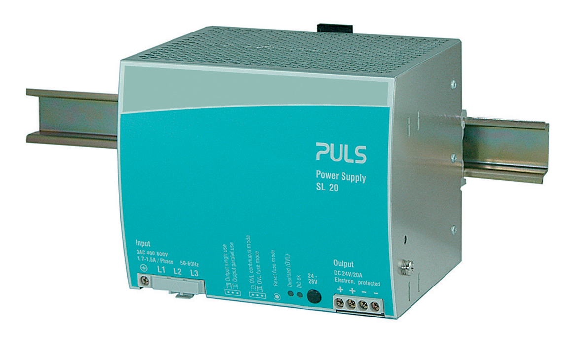 Sl20310 Din Rail Power Supplies For 3 Phase Systems 24v Supply 18a Single Output