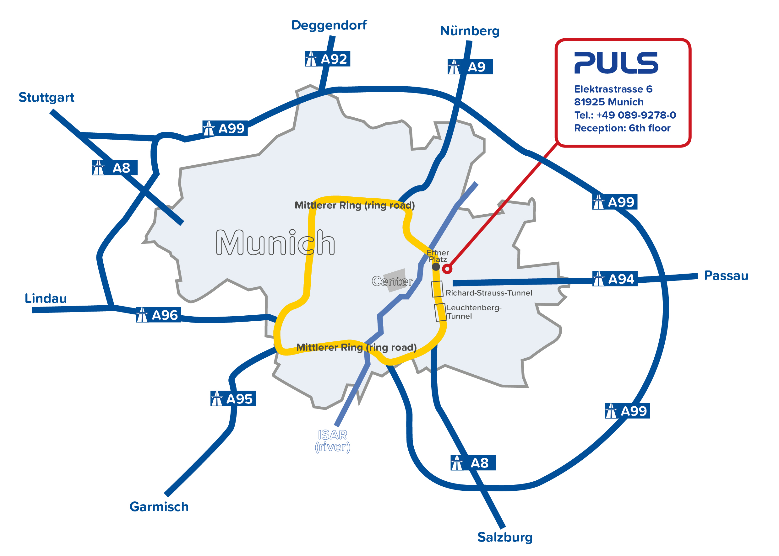 PULS route map car