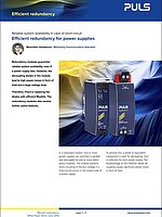 White Paper - Efficient redundancy for power supplies