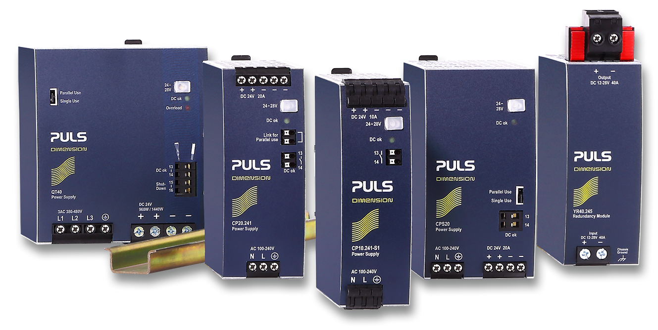 DIMENSION DIN rail power supplies