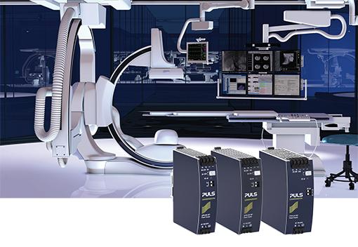 DIN rail power supplies for medical technology