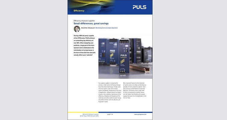 White Paper: Efficiency of power supplies